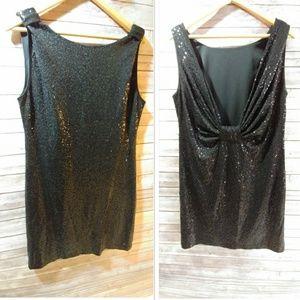Gorgeous Sequence Black Mini Dress